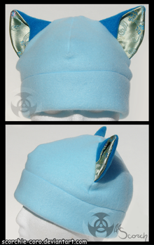 Blue Cat Ear Hat by Scorchie-Critter