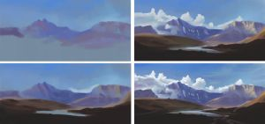 Study 004 - Vanoise National Park - Step-by-step by Helroir