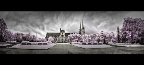 Infrared - St Mary's Cathedral by La-Vita-a-Bella