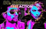 80s Photoshop Action Free by PsdDude