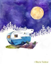 Moonlight Camping by Retro-Sorrento