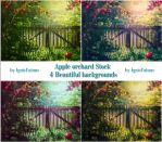 Apple orchard-Backgrounds-Stock by IgnisFatuusII