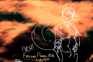 Fire and flames YCH by askdirty