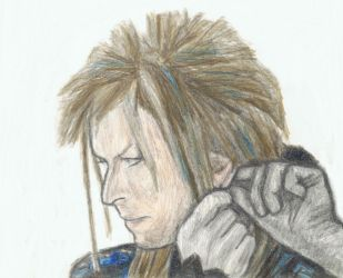 Jareth putting earrings in by gagambo
