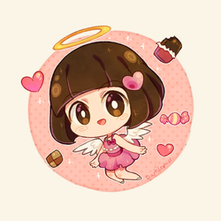 Gift [Crayon chibi] - Yui by Darklephise