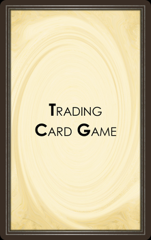 Trading Card Game Back Design by Shadow3vi1