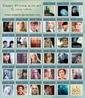Harry Potter icon set by crazy-rodents