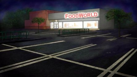 Supermarket carpark at night by Lesleigh63