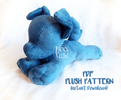 Small Dog/ Quadruped PDF Plush Pattern by NoxxPlush