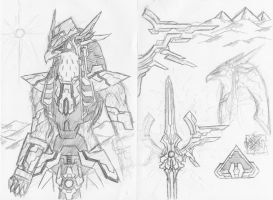 TOD gods sketch: Horus-Ra: 1 by ProjectWarSword