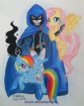Fanart: Raven, Futtershy and Rainbow Dash by Enock