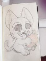 Nyanpire Sketch Fan art. by azuh