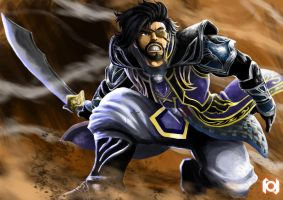 Xiahou Dun -fan art- by rayhyuuga