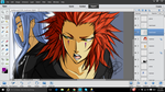 KH - Axel and Saix Colored Sketch Doodles by LightSilverstar