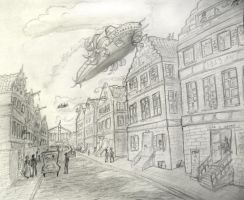 Flying ships. A different Amsterdam? by kedrednael