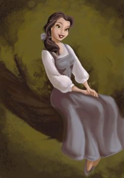 Belle coloring page by sydneysunray