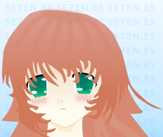 Vector face of anime girl by se7enes
