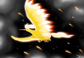 Titan of Fire - Moltres by DarkFeather