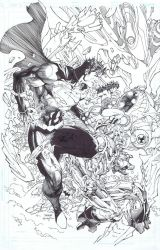 Justice League 15 variant cover by INKIST
