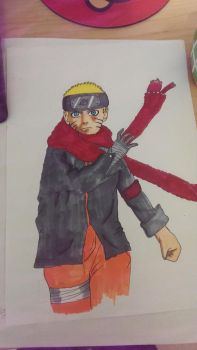 Naruto the last Traditional drawing by iTayxDesignx