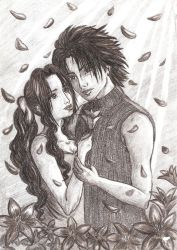 Aerith and Zack by ladyjuna