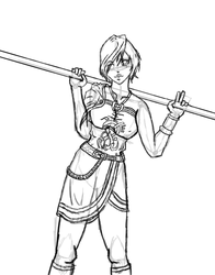 Leanna WIP by ArchonofFate