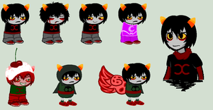 Kaksie Sprites for DarkSkyBlue by SavannaEGoth