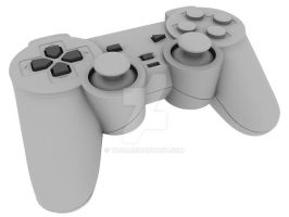 Playstation Controller Model by Th4d