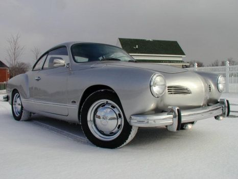 Karmann Ghia in the snow by Nobody-In-Particular