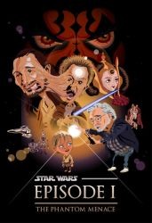 The Phantom Menace caricature poster by TheCalvoArt