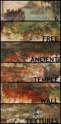 Grunge temple wall textures by kropped