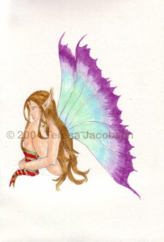 Sitting Fae :colored: by kalany