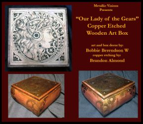 Our Lady of the Gears Copper Art Box by MetallicVisions