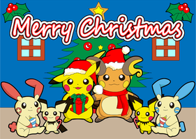 Pokemon Christmas by LittleMissAntiSocial