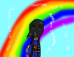 TF2- Pyro In Pyroland (first drawing of pyro) by FluttershyAdorable