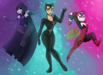 Favorite DC females by AllforCartoons