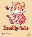 Deadly Cute Tiger - Vote it on Qwertee! by Geekydog