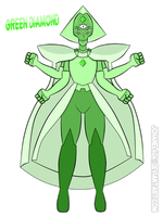 SU-OC-Green diamond Fusion (Request) by Jchanel404