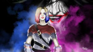 Harley Quinn 80's by RedGeOrb