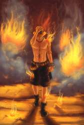 Fire Fist Ace by Mikan-no-Tora