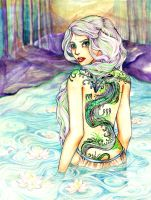 Dragon Lady of the Lake by aegia