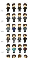 The Beatles Chibi by Gewher43