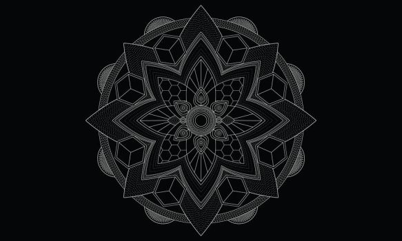Vector mandala by Zwartmetaal