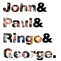 John, Paul, Ringo and George by Solid-Snake-Zombie