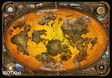 steampunk map by Monkey-Paw