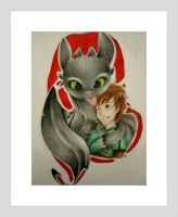 Toothless and Hiccup! by NasiK2424