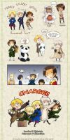 Hetalia chibis ATTACK by MidoriGale
