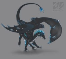 Dragon design: electric blue by AverrisVis