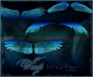 Wings Brushes Gimp by BlaclyStuff