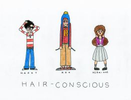 Hair-Conscious: HP Trio by magentamee